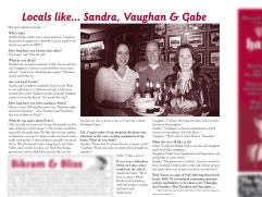 "The Pomeroy's Press. Pom's ""Locals like…"" profile article. Sandra, Vaughan and Gabe."