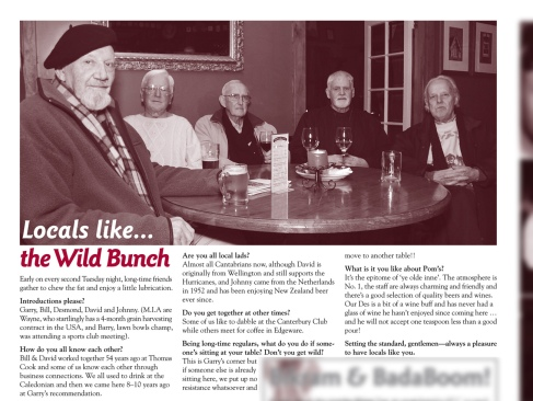 "The Pomeroy's Press. Pom's ""Locals like…"" profile article. The Wild Bunch."