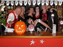 Pomeroy's staff group photo. Halloween Party 2008.