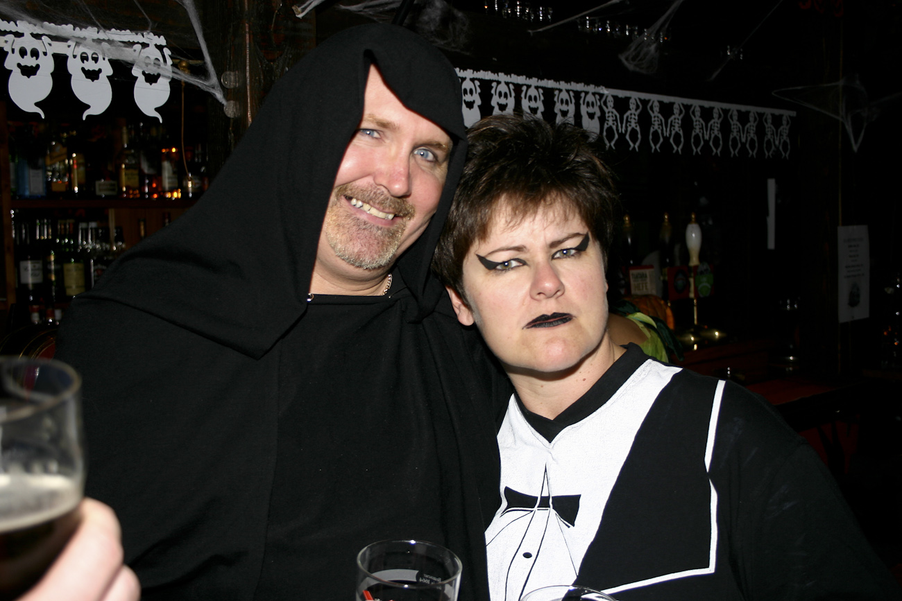 Partygoers, Pomeroy's Halloween Party, Friday October 31, 2008.