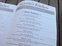 Pomeroy's Press newsletter, Victoria's Kitchen seasonal menu.
