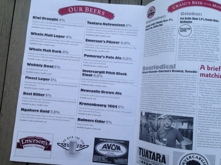 "Pomeroy's Press newsletter, ""Our Beers"" list of craft beer brews, ""Craig's Beer of the Month"" and ""Beeriodical"" feature about craft breweries, craft beer and craft brewing personalities."