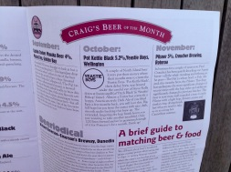 "Pomeroy's Press newsletter, ""Craig's Beer of the Month"" feature."