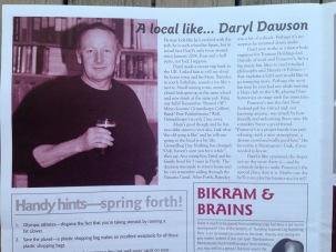 Pomeroy's Press newsletter, feature article about local character Daryl Dawson.