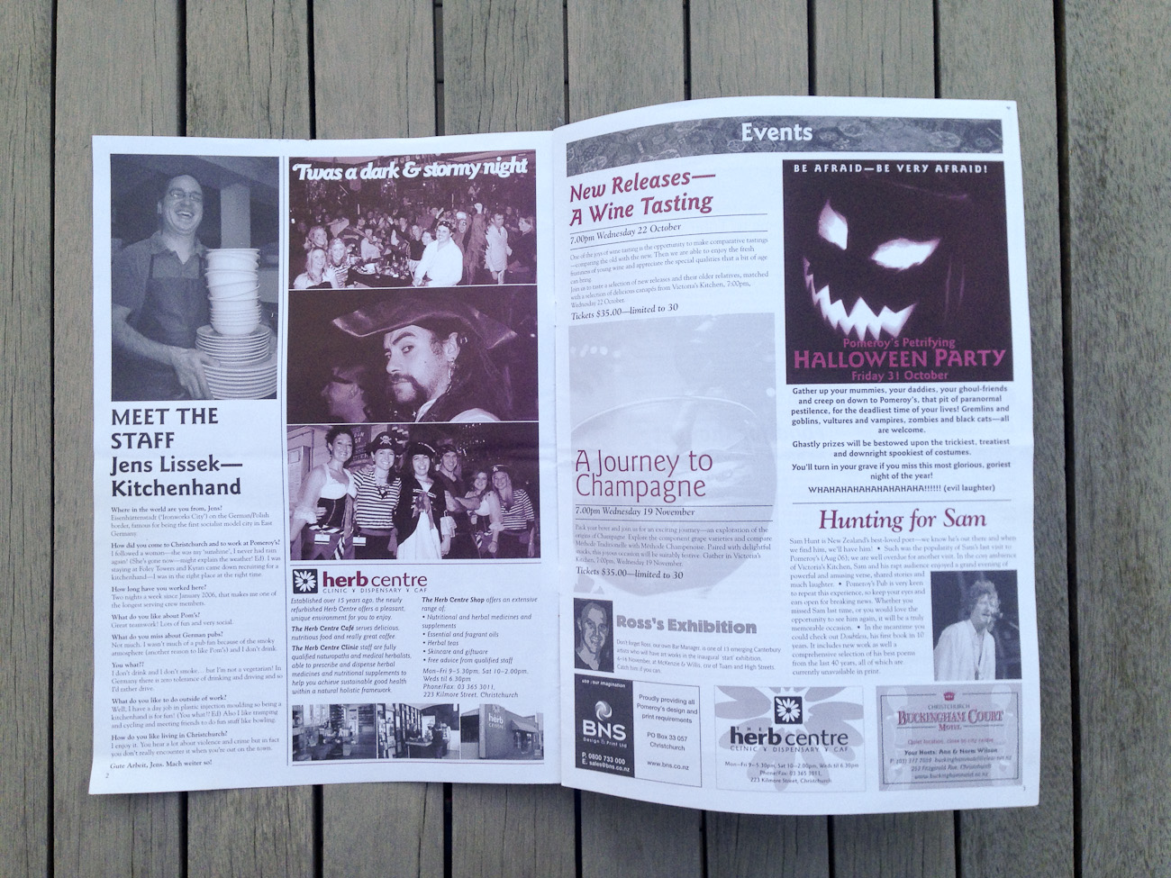 Pomeroy's Press newsletter, pages two and three, consistent newsletter content template.