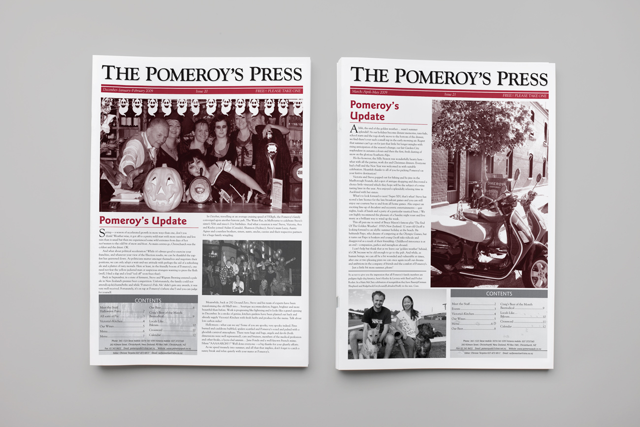 The Pomeroy's Press issues 20-21, 2009.