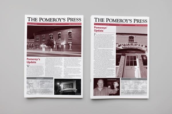 Pomeroy's pub newsletter | MagentaDot Brands