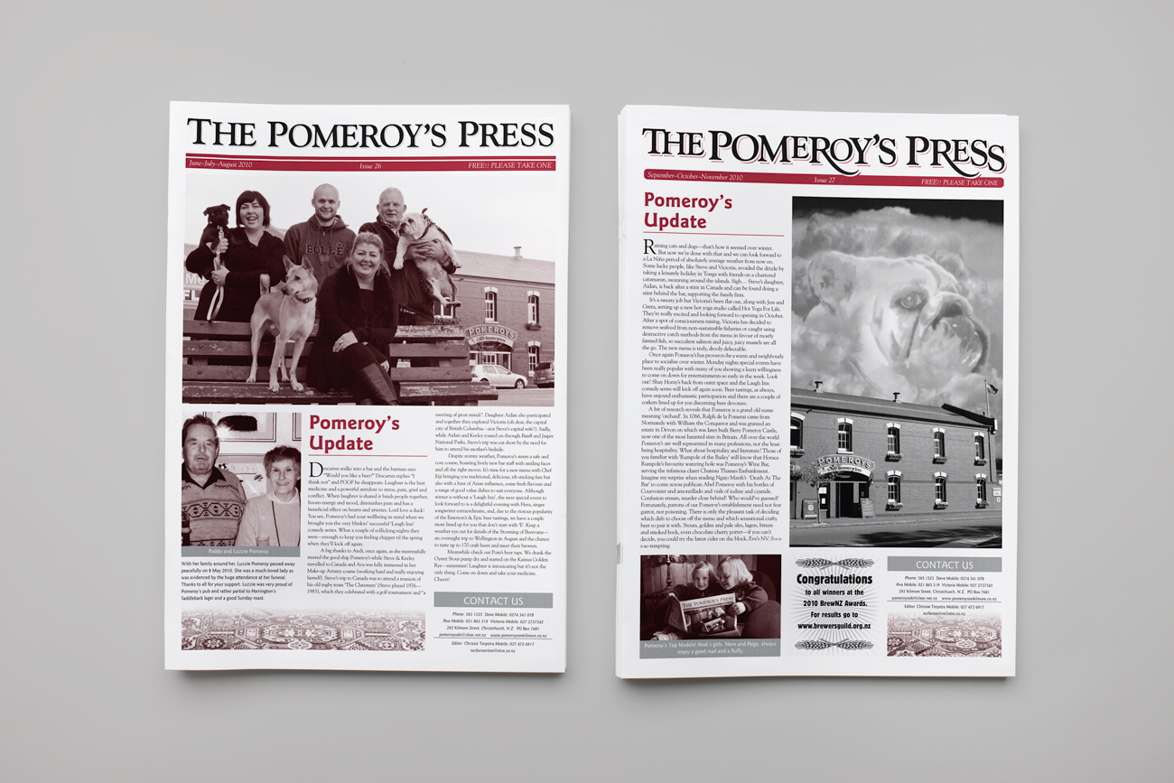 The Pomeroy's Press issues 26-27, 2010.