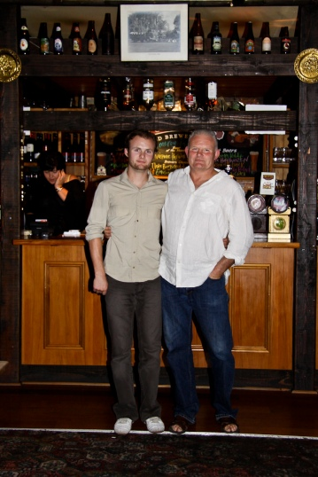 The Pomeroy's Press. Portrait for staff profile story. Steve Pomeroy and son Keeley.