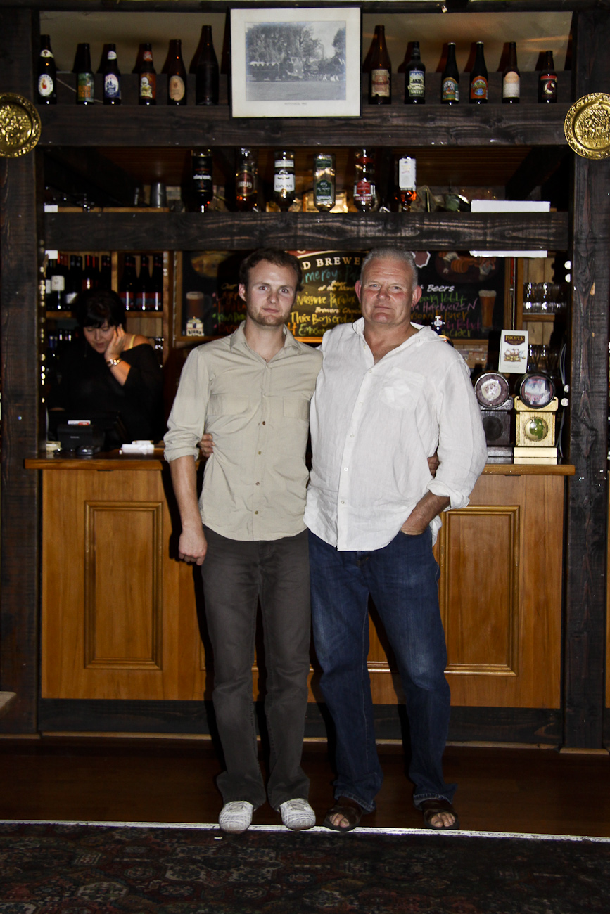 The Pomeroy's Press. Portrait for staff profile story. Steve Pomeroy and son Keeley.