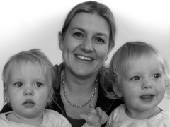The Pomeroy's Press. Staff profile image. Andi Hickey and her twins.