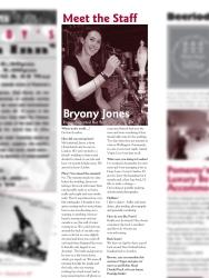 The Pomeroy's Press. Pom's staff profile article. Bryony Jones.