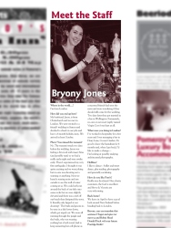 The Pomeroy's Press. Pom's staff profile article. Bryony Jones.