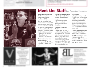 The Pomeroy's Press. Pom's staff profile story. Ian Dunsford.