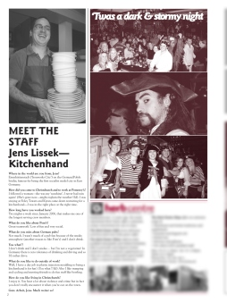 The Pomeroy's Press. Pom's Staff profile article. Jens Lissek.