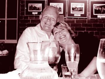 The Pomeroy's Press. Pom's Staff profile image. Steve and Victoria Pomeroy, Midwinter Christmas portrait.
