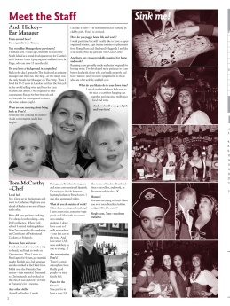 The Pomeroy's Press. Pom's staff profile article. Andi Hitchens, Tom McCarthy.