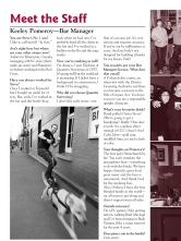 The Pomeroy's Press. Pom's staff profile article. Keeley Pomeroy.