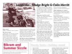 "The Pomeroy's Press. Pom's ""Locals like…"" profile article. Madge Bright and Colin Merritt."
