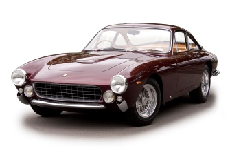 1963 Ferrari 250 GT Lusso, front three quarter view, left.