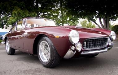 1963 Ferrari 250 GT Lusso, front three quarter view, left, close up.
