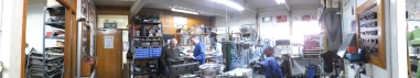 Auto Restorations Auto Engineering Shop panorama.
