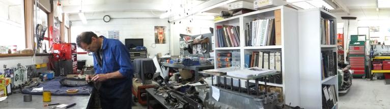 Auto Restorations Mechanical Shop panorama.