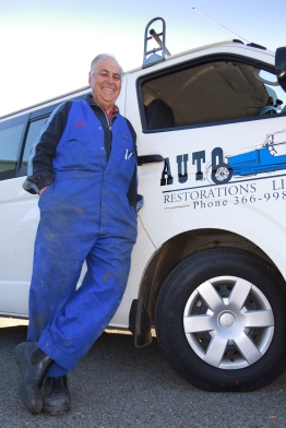 Charlie Davie, Auto Restorations' in-house courier.