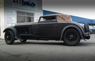 Auto Restorations, Delage D8-7 complete, Custom Coach workshop.