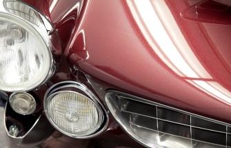 1963 Ferrari 250 GT Lusso, bonnet detail.