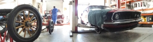 Auto Restorations Mechanical Shop panorama.