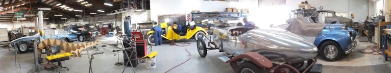 Auto Restorations Panel Shop panorama.