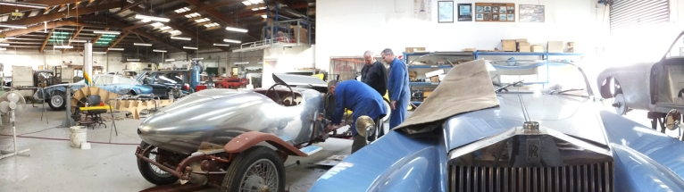 Auto Restorations Panel Shop panorama.