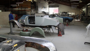 Custom Coachbuilding Shop scene, Auto Restorations.
