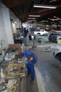 Panel Shop scene, Auto Restorations.