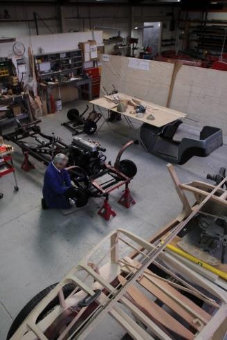 Custom Coachbuilding Shop scene, Auto Restorations.