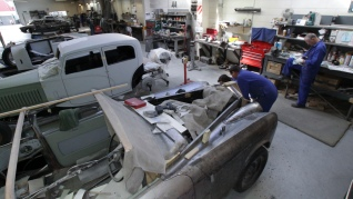Panel Shop scene, Auto Restorations. Rolls Royce Restoration.