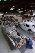 Panel Shop scene, Auto Restorations. Rolls Royce Restoration.