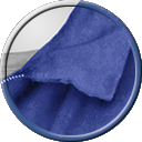Auto Restorations skilled workforce blue collar icon.