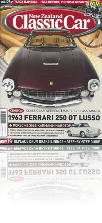 Links to PDF of New Zealand Classic Car magazine cover story on the 1963 Ferrari 250 GT Lusso
