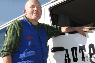Graeme Dickey, Auto Restorations' in-house courier.
