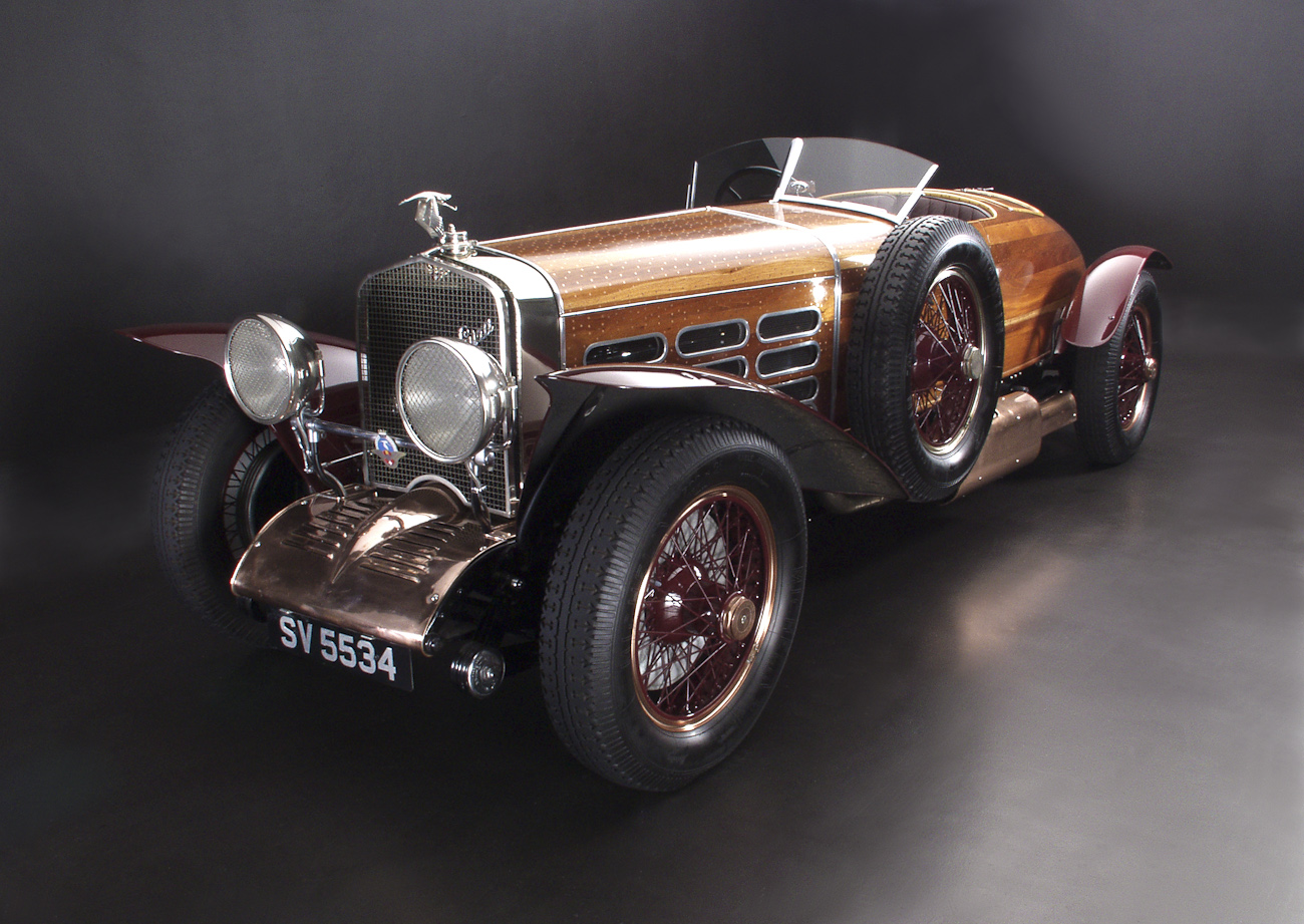 Hispano Suiza Tulipwood three quarter front.