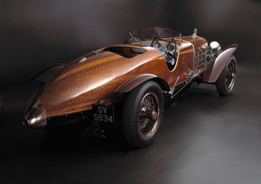 Hispano Suiza Tulipwood rear three quarter.