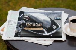 Newspaper advert, First in Class, Talbot Lago close up
