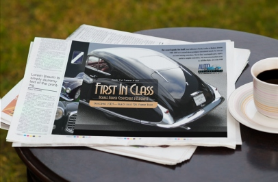 Newspaper advert, First in Class, Talbot Lago close up