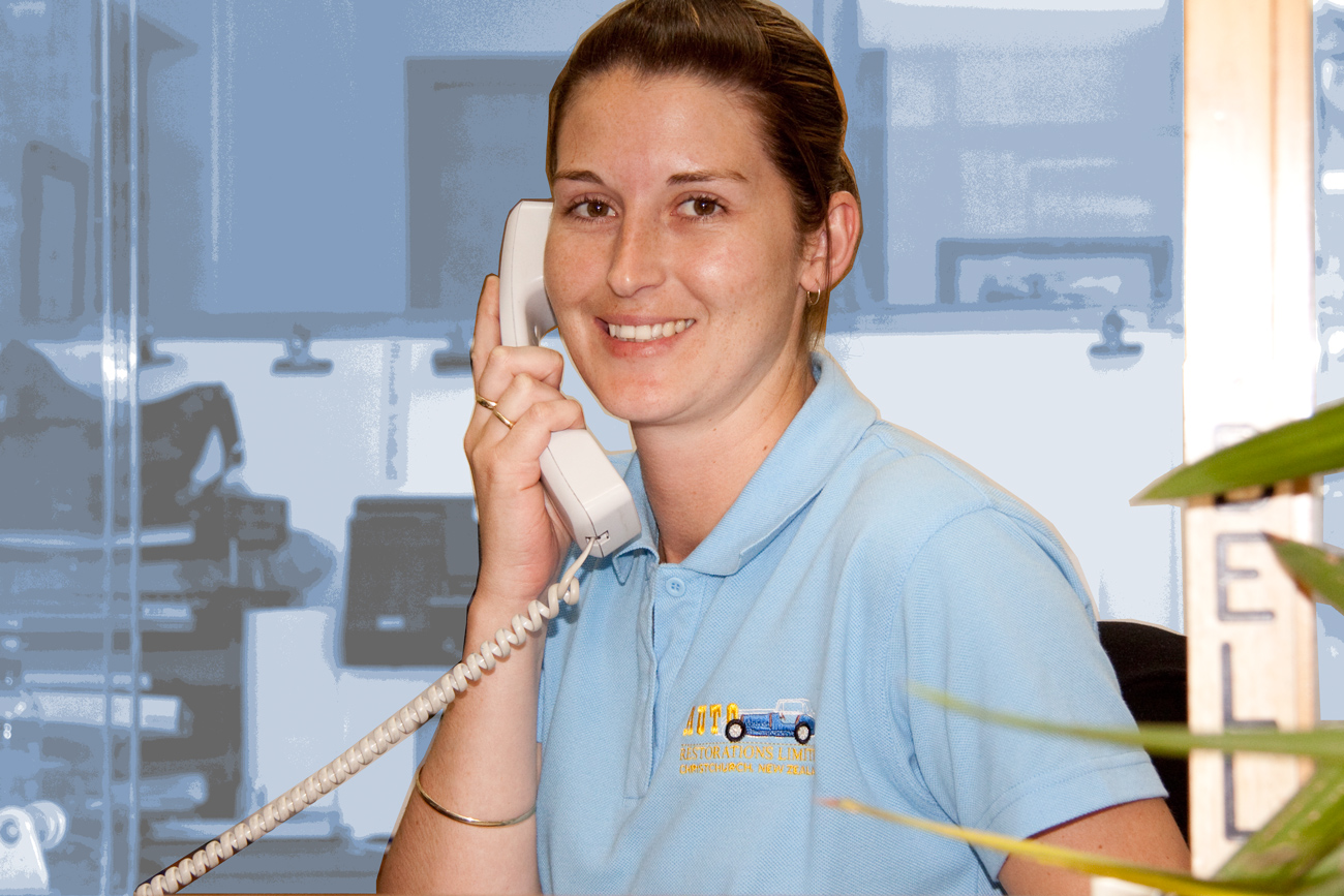 Jamie, office manager, receptionist and P.A. at Auto Restorations.