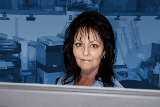 Sandra Casparis, office manager, receptionist and P.A. at Auto Restorations.