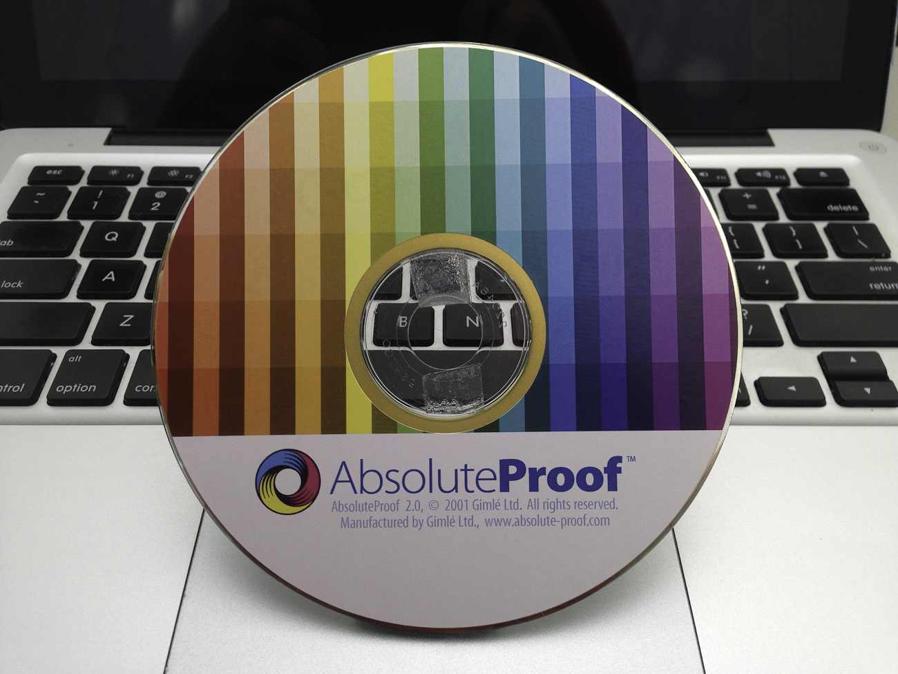 AbsoluteProof software disk label, second iteration
