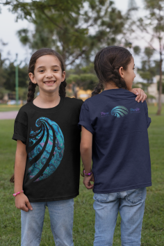front-and-back-view-mockup-of-twin-girls-wearing-t-shirts-at-a-park-30710