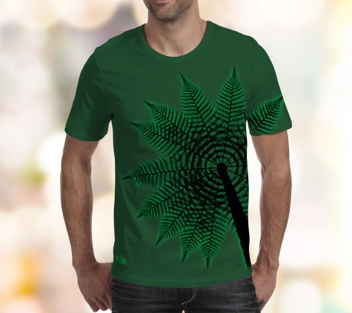 Treefern-FRONT-print-on-Deep-forest-tee